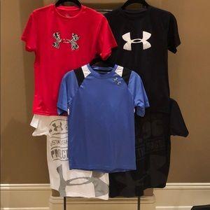 Five UA Heatgear Shirts